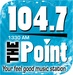 1330&104.7 The Point - WHGM Logo
