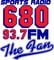 The Fan - 680 and 93.7 FM - W229AG Logo