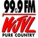 Pure Country 99.9 - WJVL Logo