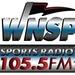 Sports Radio 105.5 - WNSP Logo