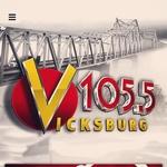 V 105.5 - WVBG-FM Logo