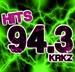 Hits 94.3 - KRKZ-FM Logo