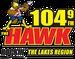 104.9 The Hawk - WLKZ Logo