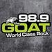 98.9 The Goat - CFCP-FM Logo
