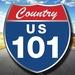 US 101 Country - KFLY Logo