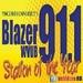 Blazer 91.1 - WVUB Logo