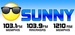 Sunny 1210 - KCJF Logo