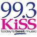 KiSS 99.3 - CKGB-FM Logo