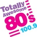 100.9 Totally Awesome 80s - KTSO Logo