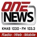 Fiber One NewsRadio - KMAS Logo