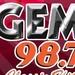 Gem 98.7 FM - WGMM Logo