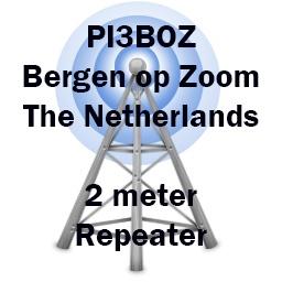 PI3BOZ 145.625 MHz Bergen op Zoom Repeater