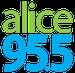 Alice @ 95.5 - KTOZ-FM Logo