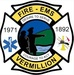 Vermilion County, IL Fire, EMS Logo