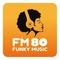 FM 80 FUNKY MUSIC Radio Logo
