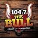 104.7 The Bull - KQSN Logo