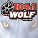 104.1 The Wolf - WNAX-FM Logo