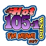 WNDO HOT 105.1 FM Logo