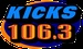 All New Kicks 106.3 - WQCC Logo