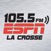 105.5 & 101.9 ESPN - K270AG Logo