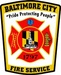 Baltimore, MD City Fire Logo