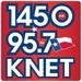 1450/95.7 KNET - KNET Logo