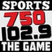 102.9/750 The Game - K275CH Logo