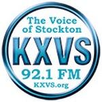 KXVS 92.1 FM The Voice of Stockton Logo