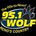 94.9/95.1 The Wolf - K236CN Logo