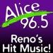Alice @ 96.5 - KLCA Logo
