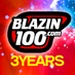 Blazin100.com Logo