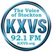 KXVS 92.1 FM The Voice of Stockton Logo