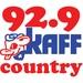92.9 KAFF Country - KAFF-FM Logo