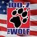 The Wolf 100.7 - KKWF Logo
