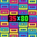Radio 35x80 - Back to the 80s Logo
