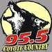 95.5 FM The Coyote - KWEY  Logo