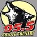 95.5 FM The Coyote - KWEY  Logo
