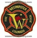 Westminster, CO Fire, EMS Logo