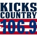 106.9 Kicks Country - WKXD-FM Logo