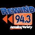 Rewind 94.3 - WRND Logo
